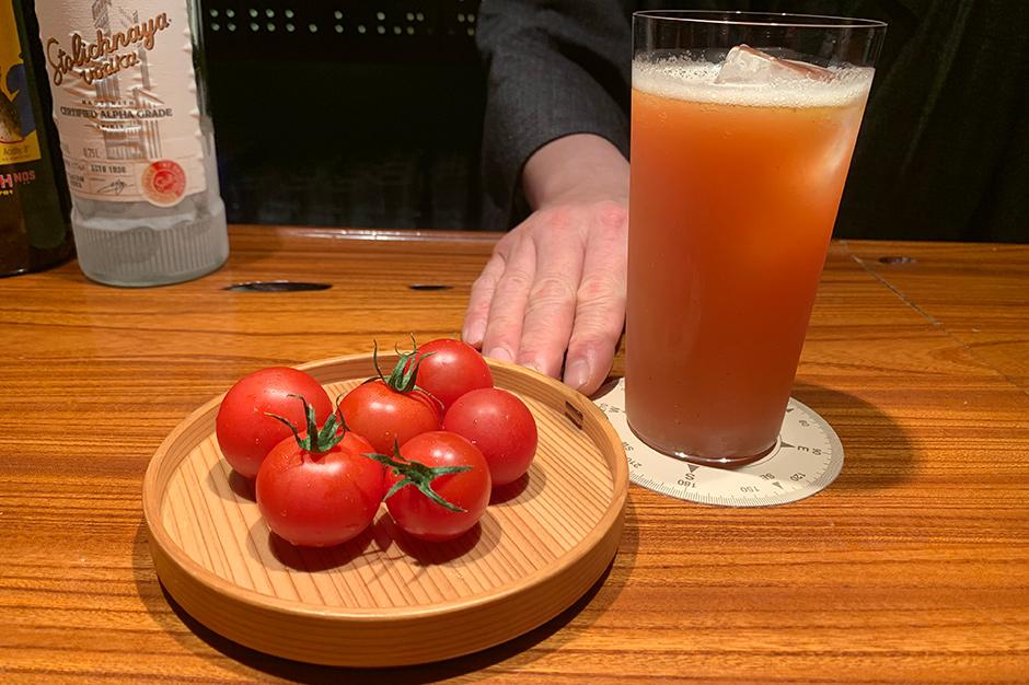 特別なトマト プレミアムフルティカと、ユウナギのブラッディメアリー