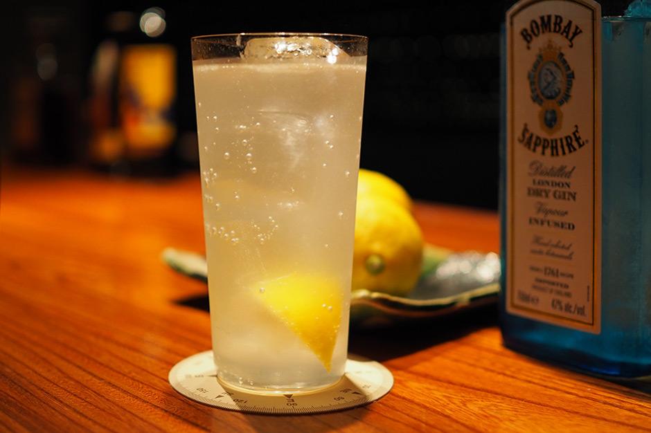 田坂農園のレモンで作ったジントニック