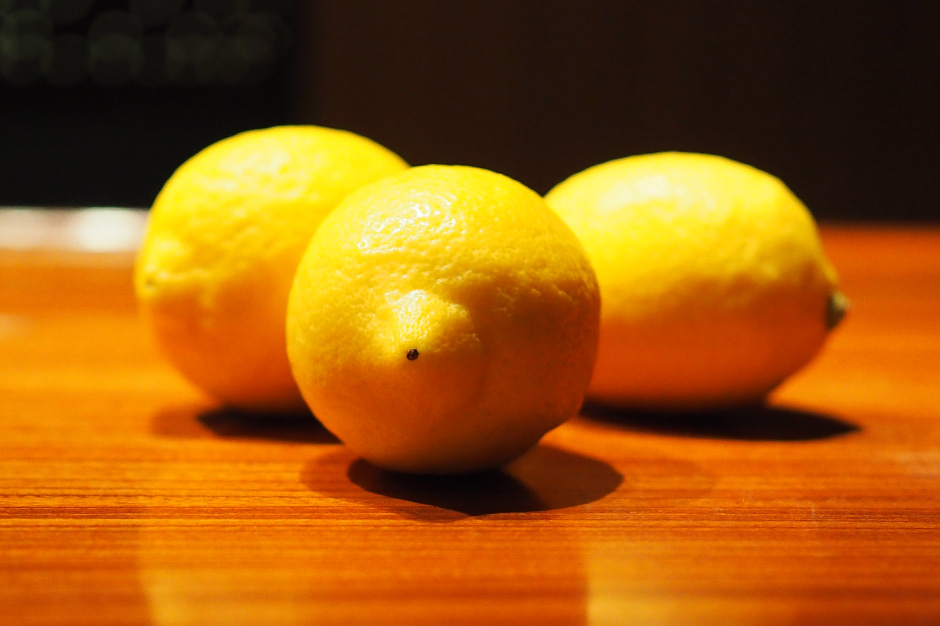 田坂農園のレモン(バーユウナギにて)